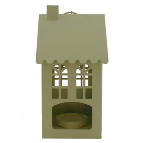 Gifts & Decor Hut House Shape Candle Holder Hanging Lantern - Yellow (DECd094)