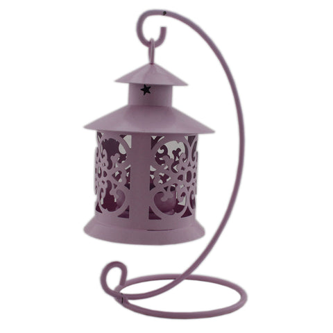 Gifts & Decor Candle Holder Hanging Lantern - Pink (DECd096)