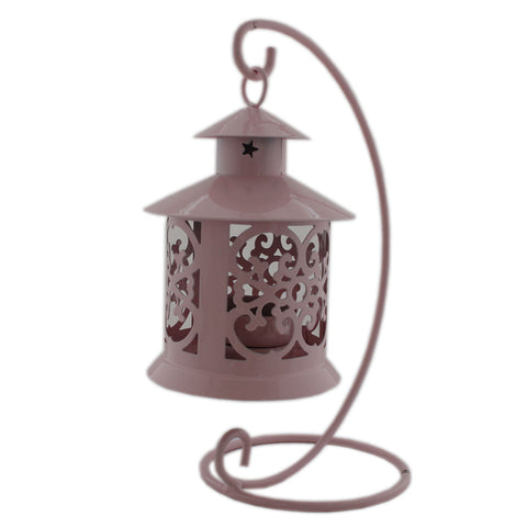 Gifts & Decor Candle Holder Hanging Lantern - Peach (DECd100)