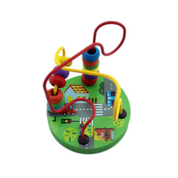 Circle Bead Maze Puzzle Wooden Toys for Kids - Green (WNTb072)