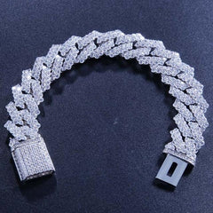 AAA CZ Paved Iced Out Miami Curb Cuban Link Gold/Silver