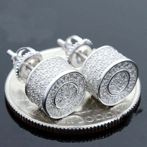 9mm Round Iced Out Earring