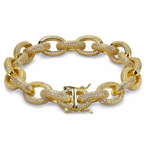 Gold/Silver Iced Out Prong Tennis Bracelet