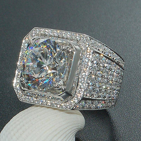 Iced Out Paved Diamond Ring