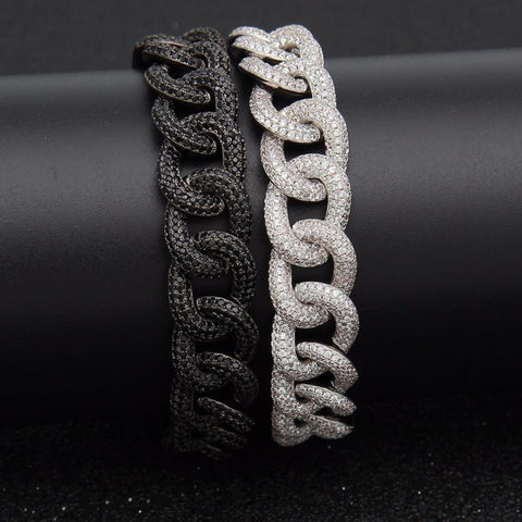 Paved Bling Iced Out Cuban Miami Link Bracelet
