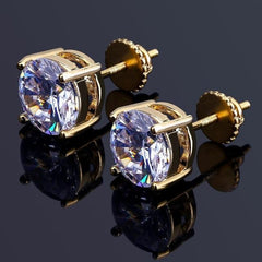 Gold/Silver Diamond Earring