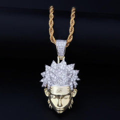 14K Gold Iced Naruto Pendant