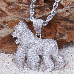 Gorilla Diamond Iced Out Pendant