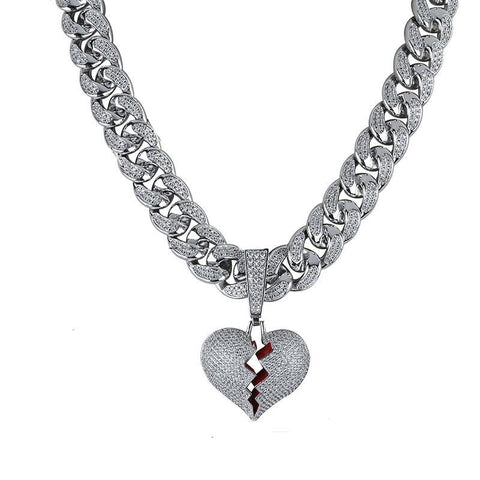 Scars Fade - Broken Heart Diamond Pendant