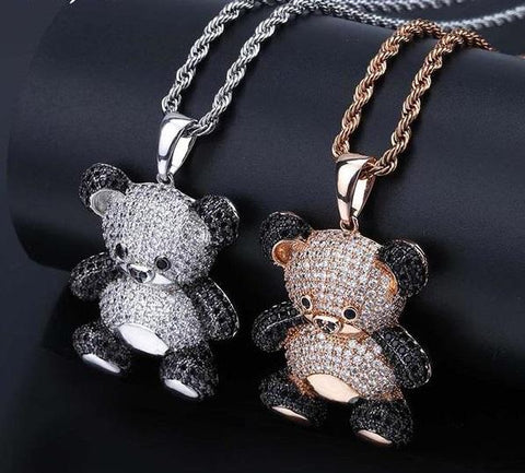 Giant Panda Iced Out Diamond Pendant
