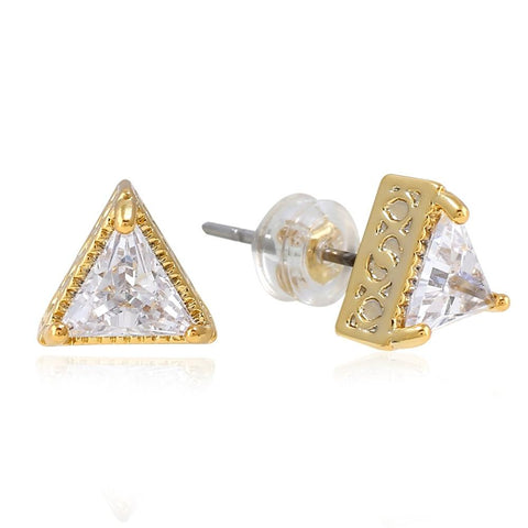 Iced Out Triangle Earring