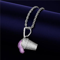10 Choice Diamond Paved Lean Pendant