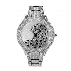 Diamond + Gold Iced Leopard Out Watch