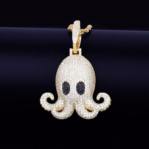 Iced Out Octopus Pendant