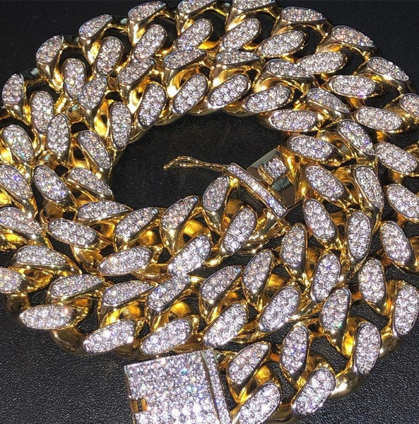Miami Cuban Link 24KT Gold Chain
