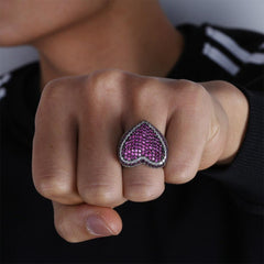 Iced Out Ruby/Sapphire Ring