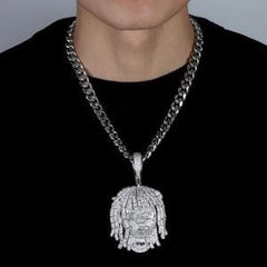 Lil Pump Iced Out Pendant With Free chain
