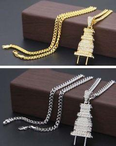 Iced Out Diamond Plug Chain