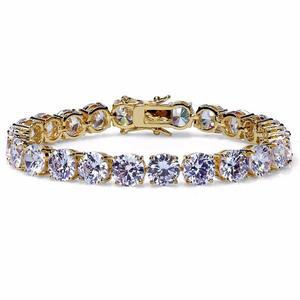 8mm Diamond Tennis Bracelet In Yellow Gold