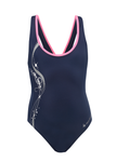 Aqua Sphere Bliss Kids Swimsuit - Navy / Grey