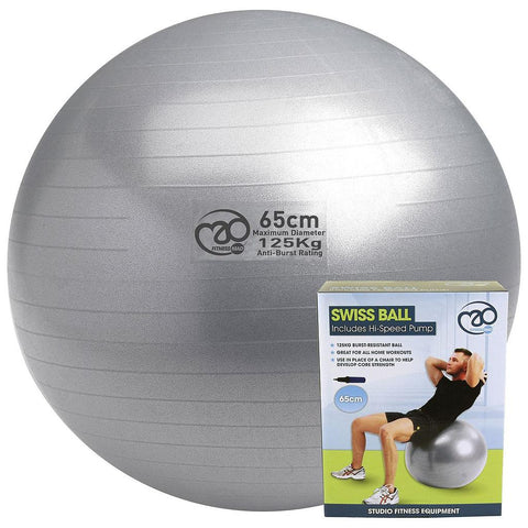 Yoga-Mad 65cm 125kg Swiss Ball & Pump