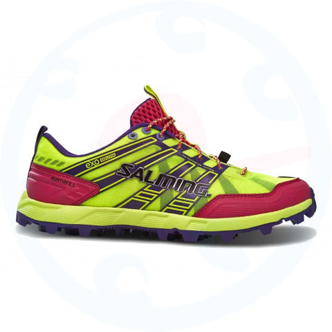 Salming Womens Elements Trainers Safety Yellow/Pink Glow