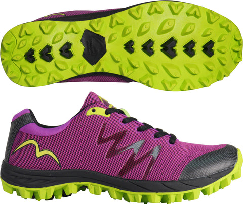 More Mile Womens Cheviot 3 Purple/Black/Lime