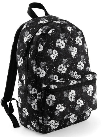 Bagbase Back Pack Black / Flowers - BG188