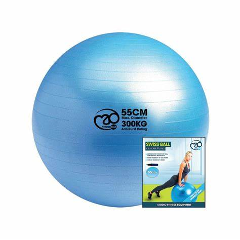 Fitness Mad Swiss Ball 55cm 300kg with Pump