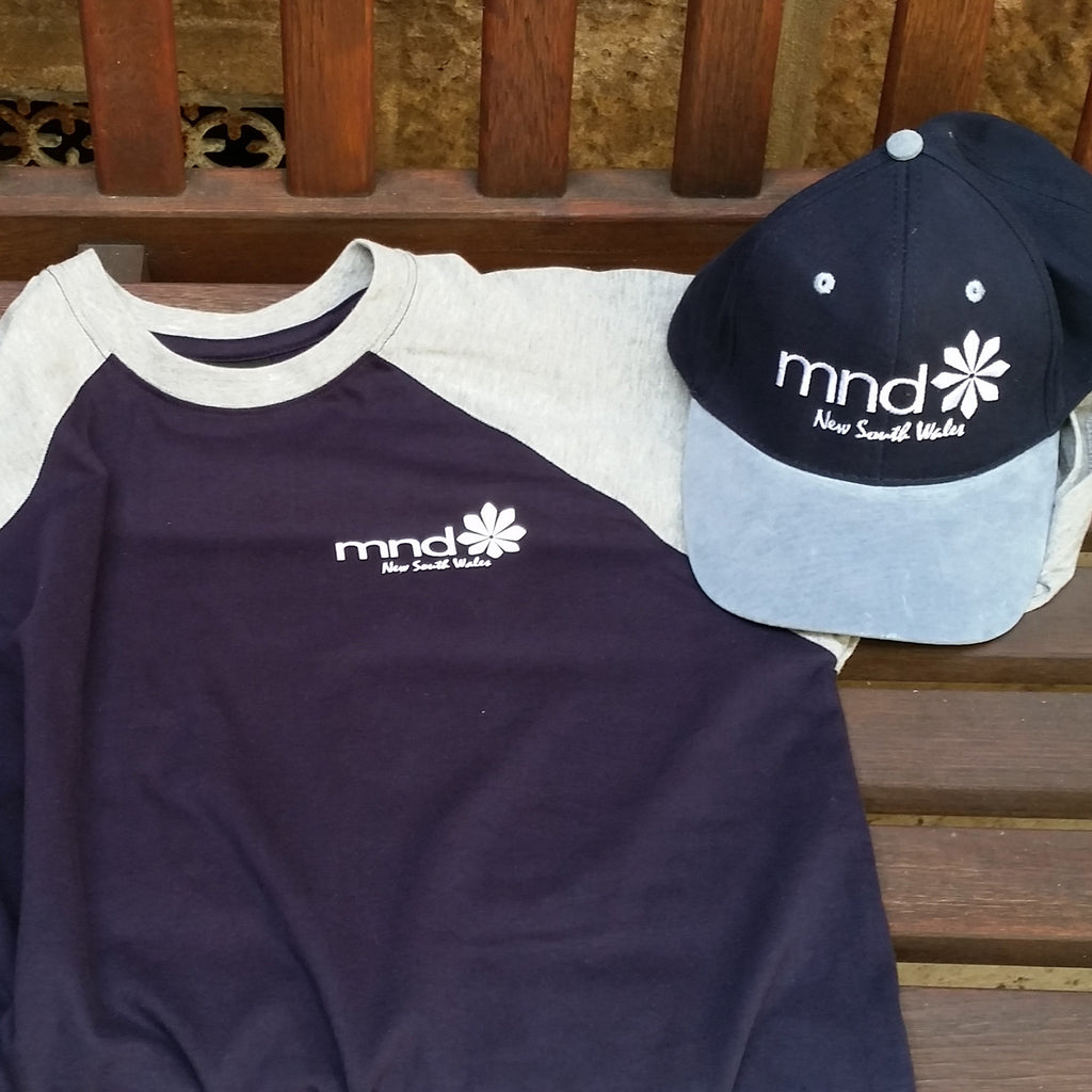 High Quality two-tone Navy/Grey MND T-shirt with MND Cap