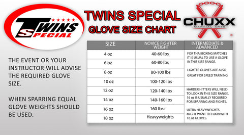 Twins Special Glove Size Guide