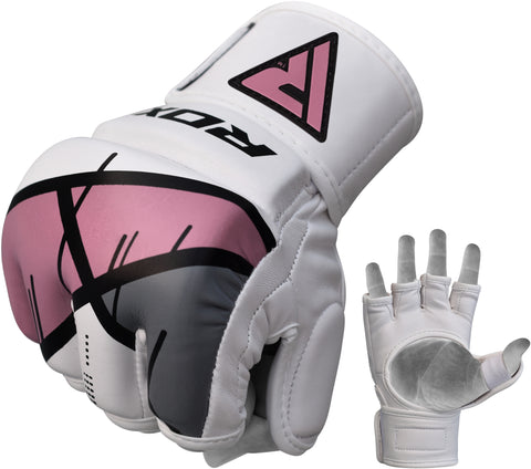 RDX T7 EGO MMA GRAPPLING GLOVES - PINK FIST