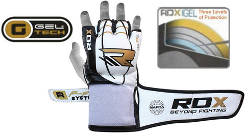 RDX F3 LEATHER MMA GLOVES LAYER DETAIL