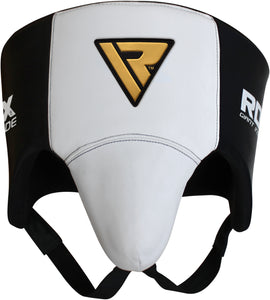 RDX L1 Groin and Abdomen Guard White/Black Alternate View