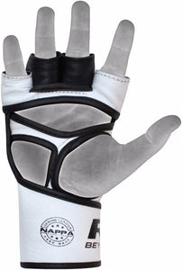 RDX F3 LEATHER MMA GLOVES PALM DETAIL