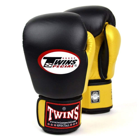 Twins special 2-Tone Boxing Gloves BGVL3-2T - Black Gold