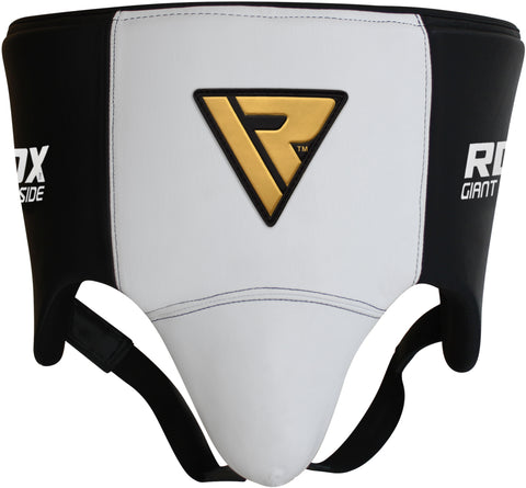 Image of RDX L1 Groin and Abdomen Guard White/Black Front