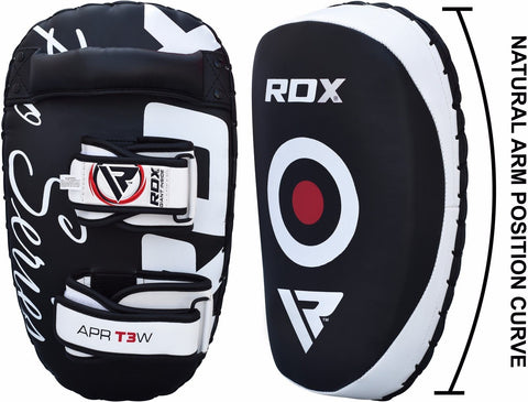 RDX Thai Pad Pair straps and side view