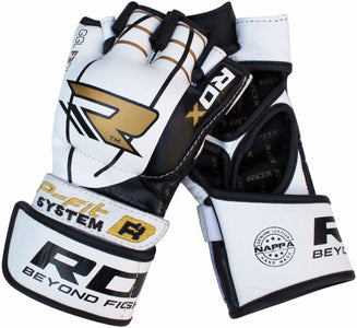 RDX F3 LEATHER MMA GLOVES PAIR DETAIL