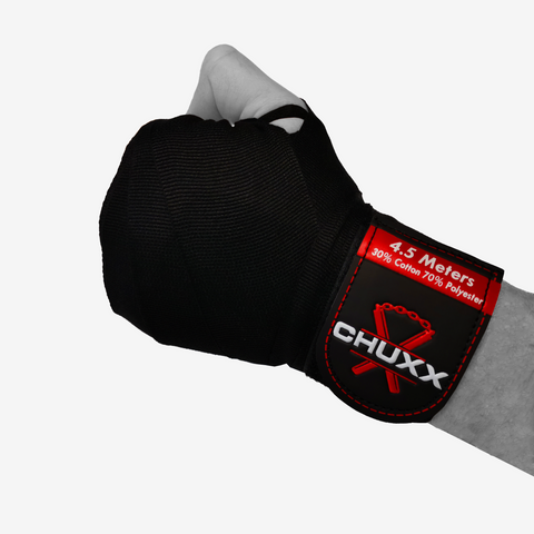 CHUXX Martial Arts Black Hand Wraps