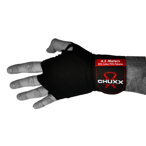 Image of CHUXX Martial Arts Black Hand Wraps