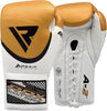 RDX A2 BBBOFC APPROVED PRO FIGHT BOXING GLOVES - GOLD PAIR