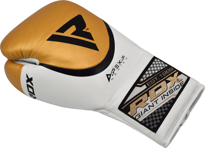 RDX A2 BBBOFC APPROVED PRO FIGHT BOXING GLOVES - GOLD SINGLE