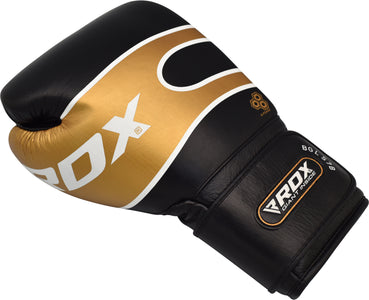 RDX S7 BAZOOKA LEATHER BOXING SPARRING GLOVES - BLACK SINGLE GLOVE