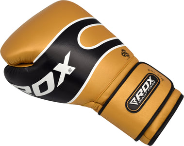 RDX S7 BAZOOKA LEATHER BOXING SPARRING GLOVES - GOLD SINGLE GLOVE