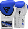 RDX A2 BBBOFC APPROVED PRO FIGHT BOXING GLOVES - BLUE