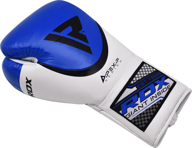 RDX A2 BBBOFC APPROVED PRO FIGHT BOXING GLOVES - BLUE SINGLE