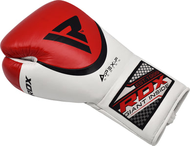 RDX A2 BBBOFC APPROVED PRO FIGHT BOXING GLOVES - RED SINGLE GLOVE