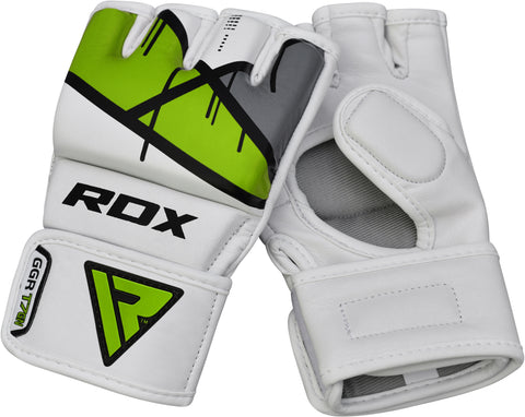 Image of RDX T7 EGO MMA GRAPPLING GLOVES - GREEN PAIR