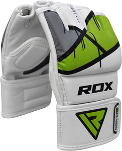 RDX T7 EGO MMA GRAPPLING GLOVES - GREEN SIDE